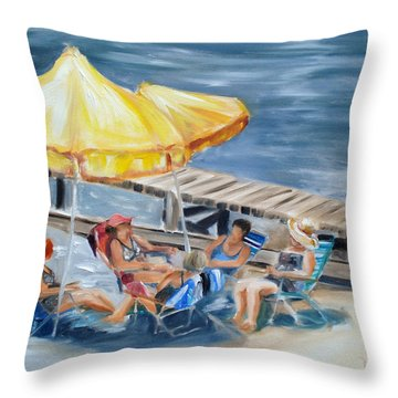 Circle Of Friends Throw Pillow by Donna Tuten