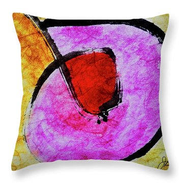 Throw Pillow featuring the painting Circle Of Life by Joan Reese