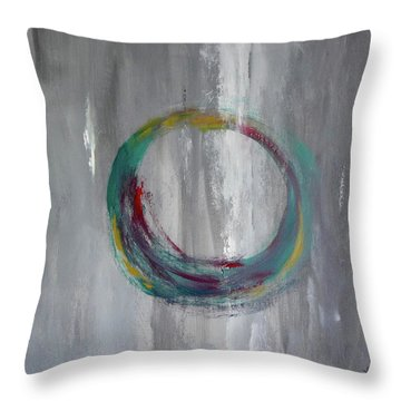 Vortex Throw Pillow by Victoria Lakes