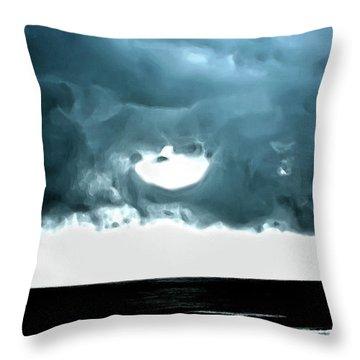 Circle Of Storm Clouds Throw Pillow