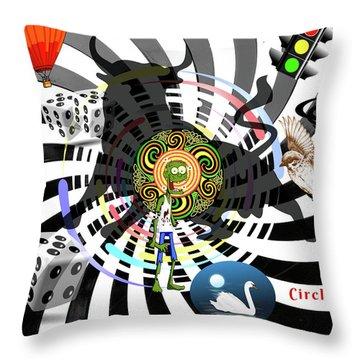 Circle Rage II Throw Pillow