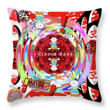 Circle Rage Throw Pillow