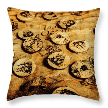 Circle Sails Throw Pillow