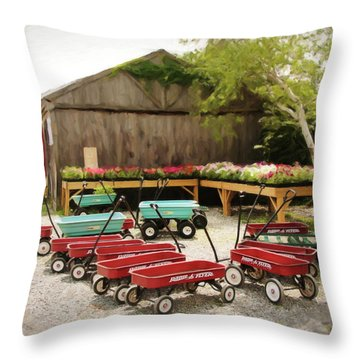 Circle The Wagons Throw Pillow