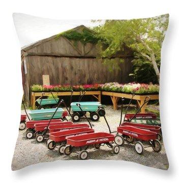 Circle The Wagons Throw Pillow