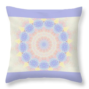 Throw Pillow featuring the photograph Circle Wreath Kaleidoscope by Shirley Moravec