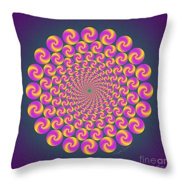 Circles Circus Throw Pillow