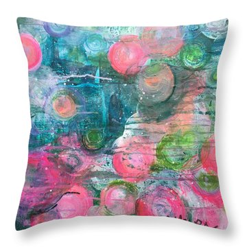 Throw Pillow featuring the painting Circles For San Marco  by Laurie Maves ART