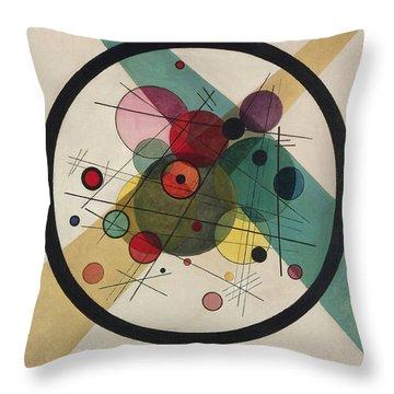 Circles In A Circle Throw Pillow