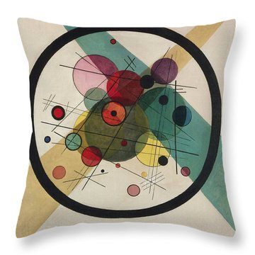 Circles In A Circle Throw Pillow