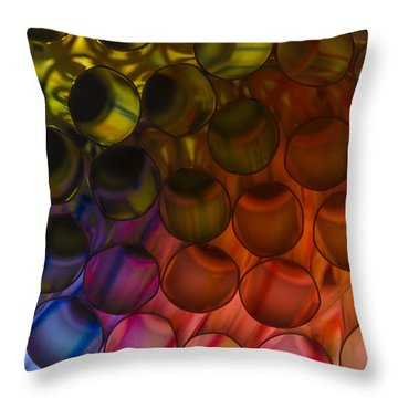 Circles In Color Throw Pillow