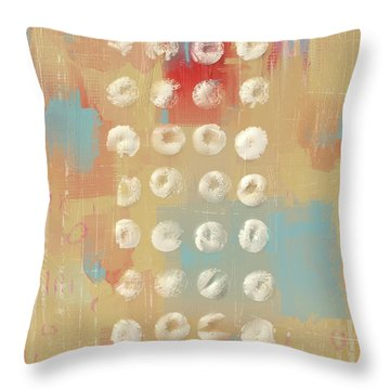 Throw Pillow featuring the mixed media Circles In The Square by Eduardo Tavares