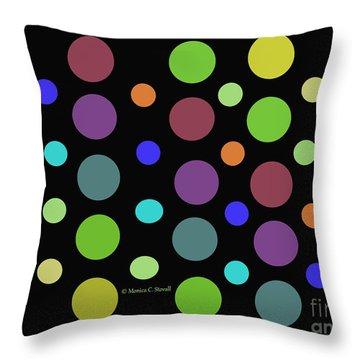 Circles N Dots C21 Throw Pillow