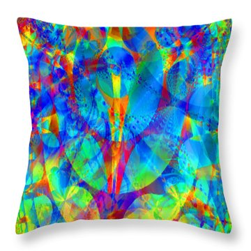 Throw Pillow featuring the digital art Circles Of Life by Charmaine Zoe