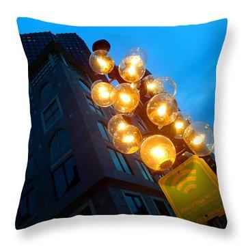 Circles Of Light  Throw Pillow