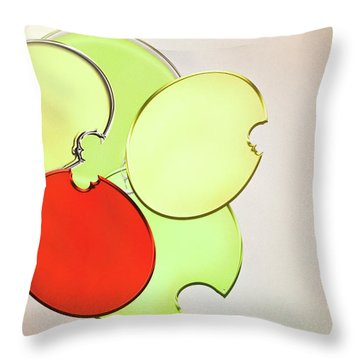 Circles Of Red, Yellow And Green Throw Pillow