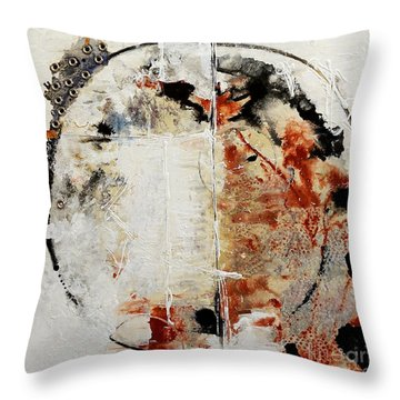 Circles Of War Throw Pillow