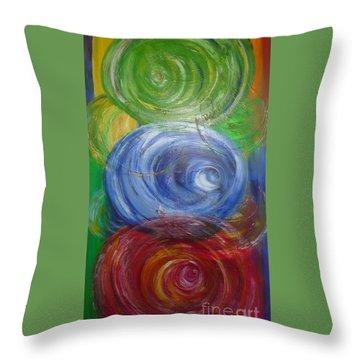 Concentric Joy Throw Pillow