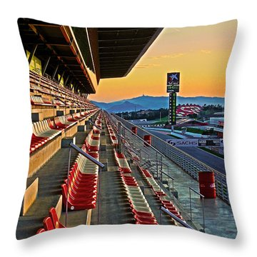 Circuit De Catalunya - Barcelona  Throw Pillow