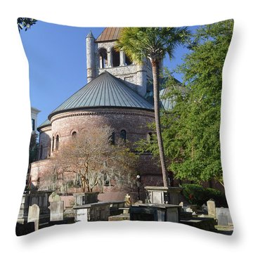 Circular Congregational Chuch 2 Throw Pillow by Gordon Mooneyhan