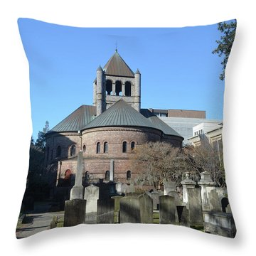 Circular Congregational Church Throw Pillow by Gordon Mooneyhan