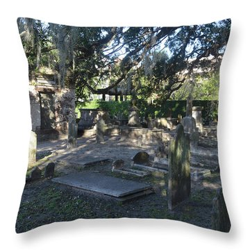 Circular Congregational Graveyard 1 Throw Pillow by Gordon Mooneyhan