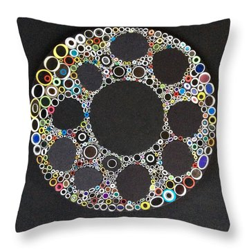 Circular Convergence Of Mutated Molecules Throw Pillow by Douglas Fromm