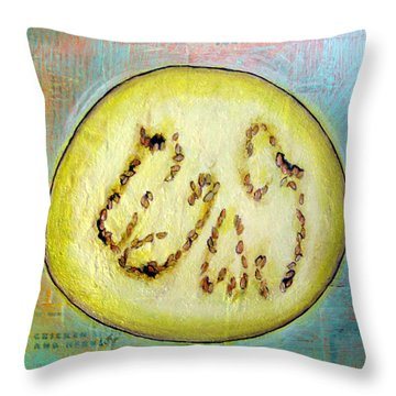 Circular Food  - Eggplant Throw Pillow