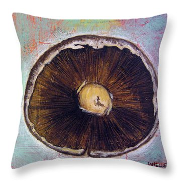 Circular Food - Mushroom Throw Pillow