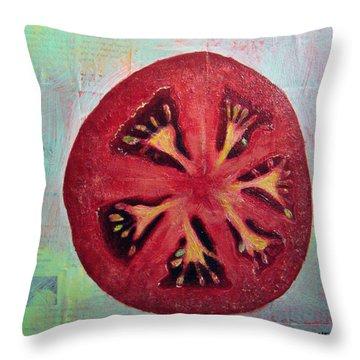 Circular Food - Tomato Throw Pillow
