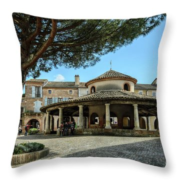 Circular Grain Market In Auvillar Throw Pillow by RicardMN Photography