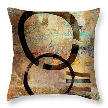 Circular Lines Throw Pillow