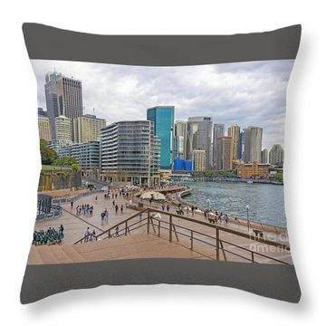 Throw Pillow featuring the photograph Circular Quay, Sydney, Australia by Elaine Teague
