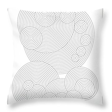 Circular Sunday Throw Pillow