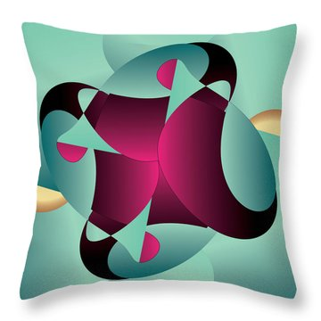 Circularium No. 2405 Throw Pillow by Alan Bennington