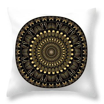 Circularium No. 2544 Throw Pillow by Alan Bennington