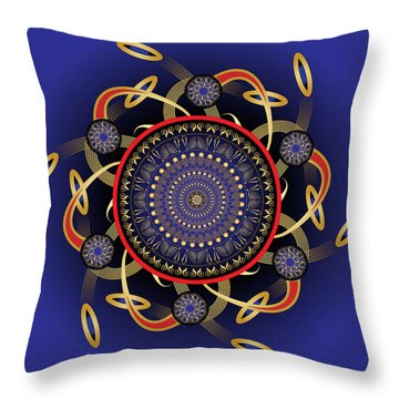 Circularium No. 2572 Throw Pillow by Alan Bennington