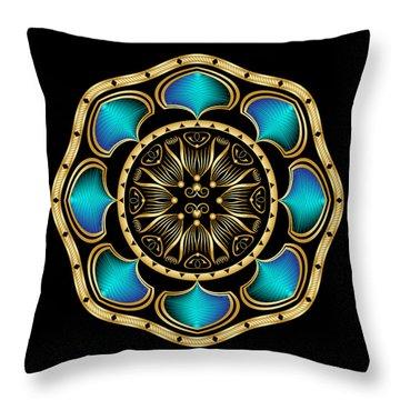 Circularium No. 2574 Throw Pillow