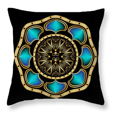 Circularium No. 2574 Throw Pillow by Alan Bennington