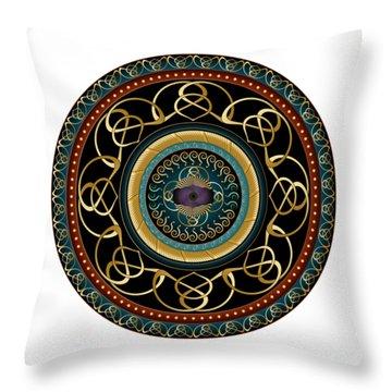 Circularium No. 2576 Throw Pillow