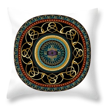 Circularium No. 2576 Throw Pillow by Alan Bennington