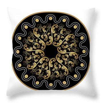 Circularium No. 2578 Throw Pillow