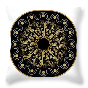 Circularium No. 2578 Throw Pillow by Alan Bennington
