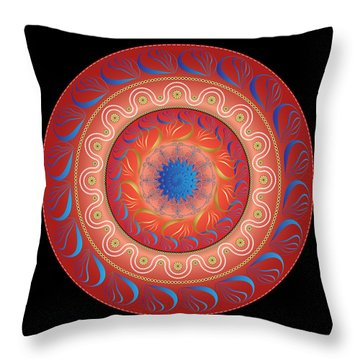 Circularium No. 2583 Throw Pillow by Alan Bennington