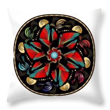 Circularium No. 2613 Throw Pillow