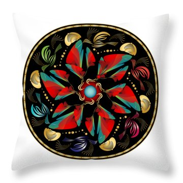 Circularium No. 2613 Throw Pillow by Alan Bennington