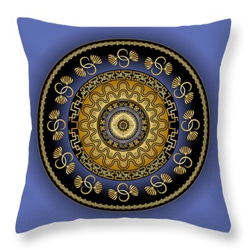 Circularium No. 2614 Throw Pillow by Alan Bennington