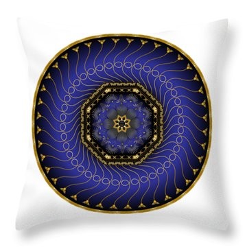 Circularium No 2714 Throw Pillow by Alan Bennington