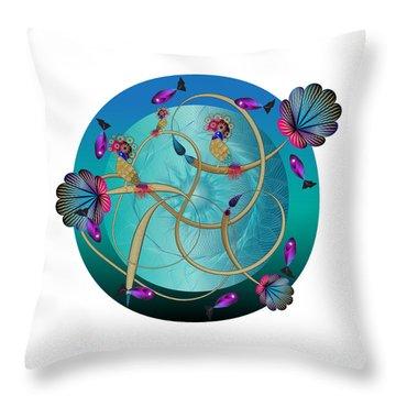 Circulosity No 3410 Throw Pillow