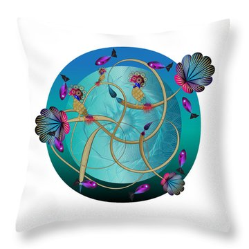 Circulosity No 3410 Throw Pillow